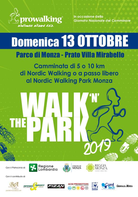 Walk'n The Park – 13 ottobre 2019, Nordic Walking Park Monza