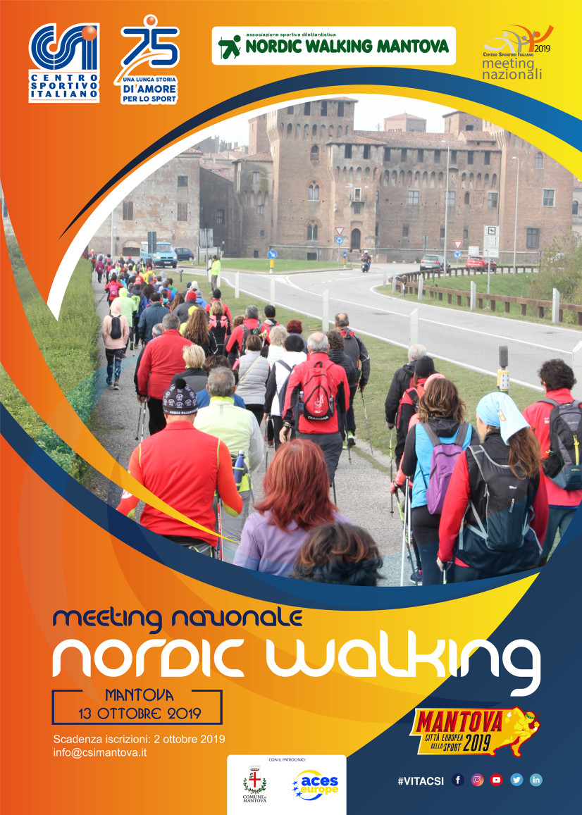 Meeting Nazionale di Nordic Walking – Mantova 13 ottobre 2019