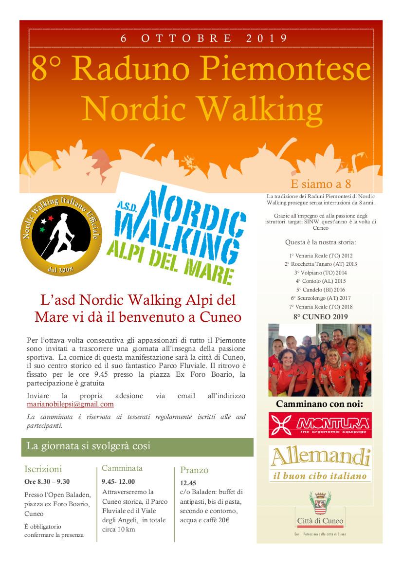 8° Raduno Piemontese di Nordic Walking – 6 ottobre 2019, Cuneo