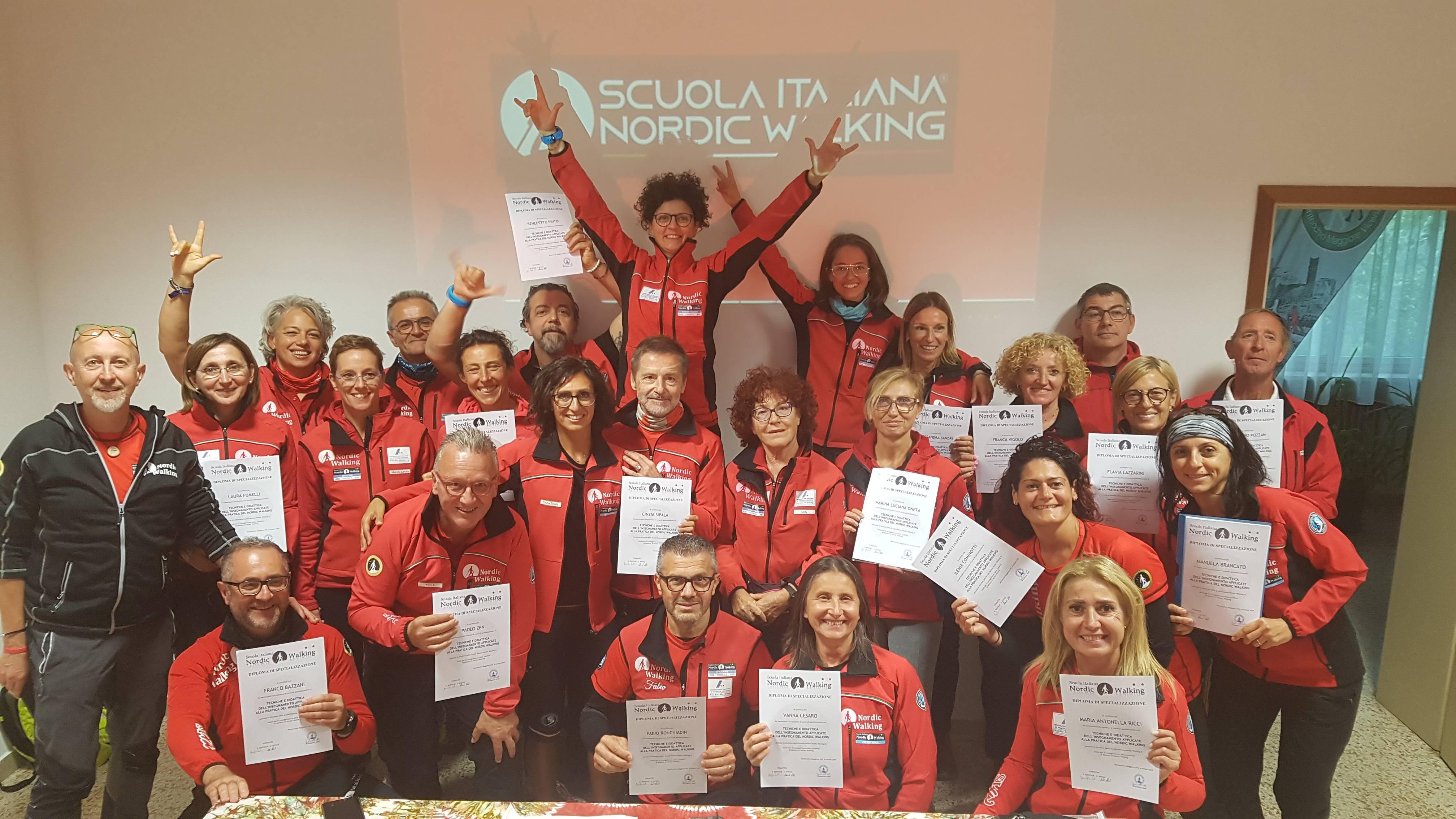 Corso di specializzazione Tecniche e didattica dell'insegnamento applicata alla pratica del nordic walking – Montecchio Maggiore (VI) 5-6 Ottobre